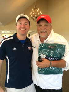 Agents of Innovation podcast host Francisco Gonzalez with Donald Hodgskin at the 12th annual Thank You Veterans Golf Tournament in December 2014.