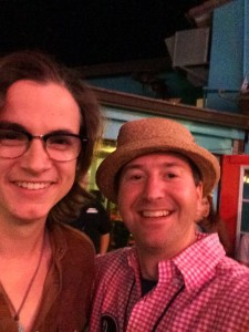 Me with Paul Pfau at Rock By The Sea in May 2014 (His hat looks better on him).